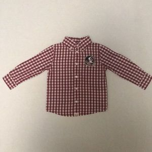 Other - FSU infant long sleeve polo type button down